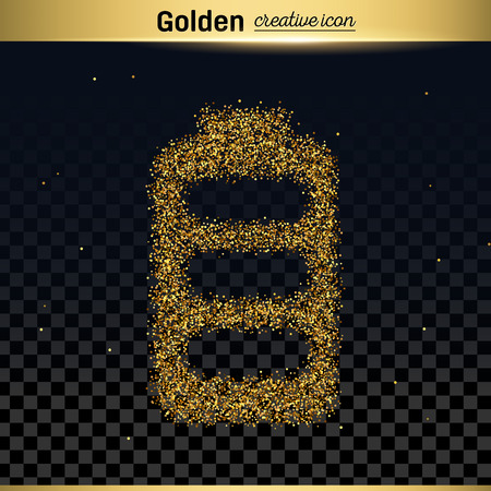 low energy: Gold glitter vector icon