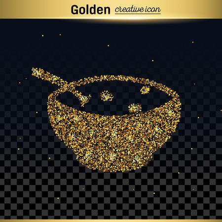 butternut squash: Gold glitter vector icon