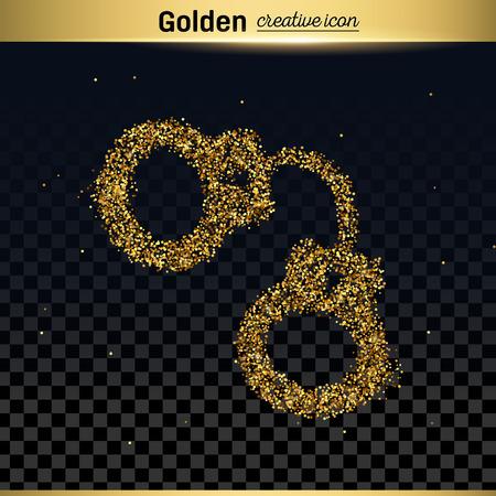 culprit: Gold glitter vector icon