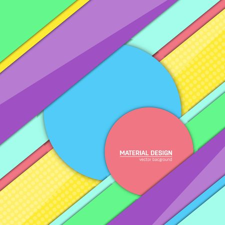 Vector material design background. Abstract creative concept layout template. For web and mobile app, paper art illustration, style blank, poster, booklet. Motion wallpaper element. Flat ui