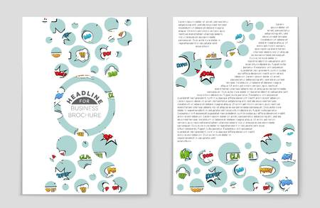 Abstract vector layout set. For art template design, list, front page, mockup brochure theme style, banner idea.