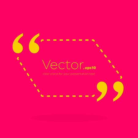 Abstract concept vector empty speech square quote text bubble. For web and mobile app isolated, illustration template design, creative presentation, business infographic social media.