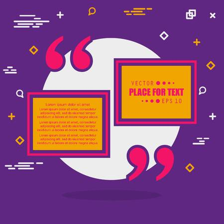 cite: Abstract concept vector empty speech square quote text bubble. For web and mobile app isolated on background, illustration template design, creative presentation, business infographic social media.