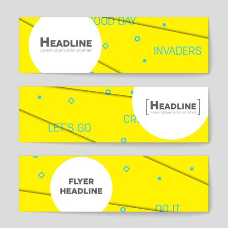 Abstract vector layout background set. For art template design, list, front page, mockup brochure theme style, banner, idea, cover, booklet, print, flyer, book, blank, card, ad, sign, sheet,, a4. 向量圖像
