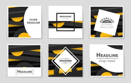 Abstract vector layout background set. For art template design, list, front page, mockup brochure theme style, banner, idea, cover, booklet, print, flyer, book, blank, card, ad, sign, sheet,, a4. Illustration