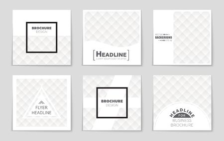 rhomb: Abstract vector layout background set. For art template design, list, front page, mockup brochure theme style, banner, idea, cover, booklet, print, flyer, book, blank, card, ad, sign, sheet,, a4. Illustration