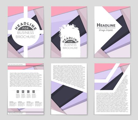 Geometric  presentation of a layout background set. For art template design, list, front page, mockup brochure theme style, banner, idea, cover.
