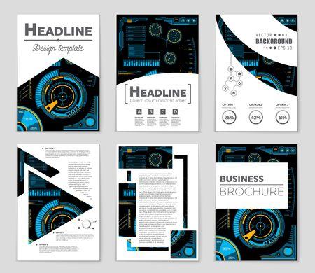 抽象的なベクトル レイアウト背景セット。アート デザイン テンプレート、リスト、ページ、モックアップ パンフレット テーマ スタイル、バナー