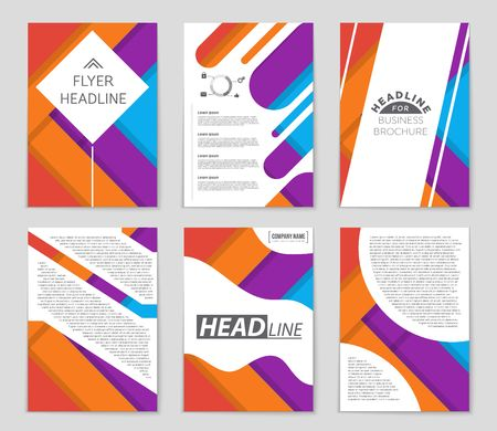 Halftone presentation of a brochure theme style, banner, idea, cover, booklet, print, flyer, book, blank, card, ad, sign, sheet,, a4 Illustration