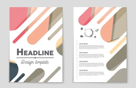 Corporate concept presentation of a brochure theme style, banner, idea, cover, booklet, print, flyer, book, blank, card, ad, sign, sheet,, a4 Illustration