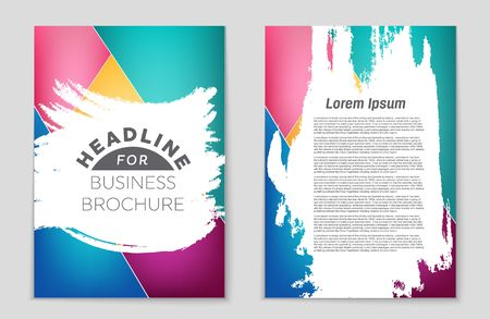 Creative art template design for design for booklet,
