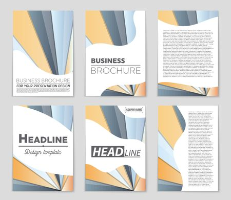 Graphic presentation of a  brochure theme style.