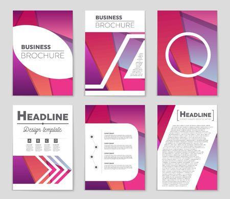 Editable  presentation of a design for  booklet. Illustration
