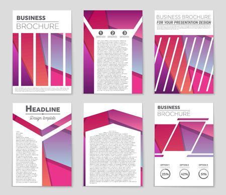 Modern presentation of a design for template design.