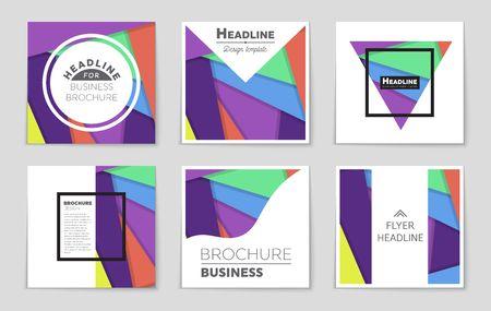 A leaflet presentation of design for theme of a art template. Illustration