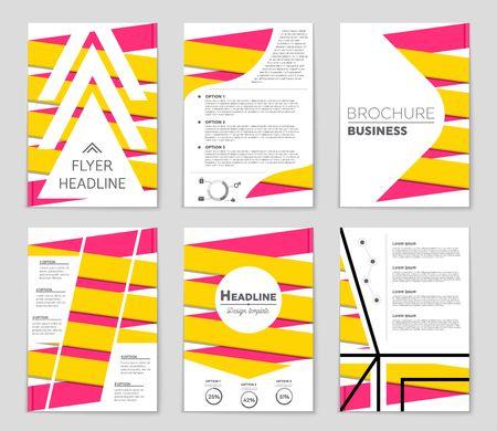 Conjunto de layout abstrato. Para design de modelo de arte, lista, página, estilo de tema de brochura de maquete, bandeira, ideia, capa, livreto, impressão, folheto, livro, em branco, cartão, anúncio, sinal, folha, a4 Foto de archivo - 75952446