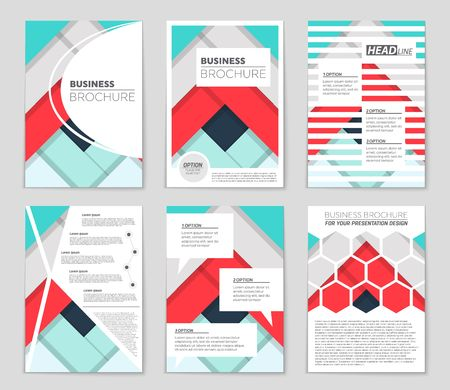 bauhaus: A cool freehand concept of a brochure theme. Illustration