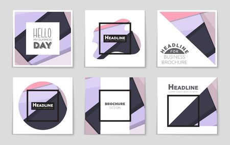 bauhaus: A brilliant freehand concept of a design for mockup brochure .