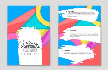 bauhaus: Abstract vector layout background set. For art template design, list, front page, mockup brochure theme style, banner, idea, cover, booklet, print, flyer, book, blank, card, ad, sign, sheet,, a4. Illustration