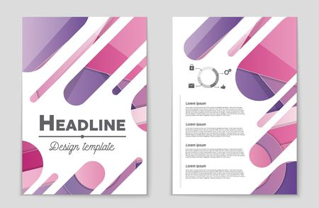 bauhaus: Abstract vector layout background set. For art template design, list, front page, mockup brochure theme style, banner, idea, cover, booklet, print, flyer, book, blank, card, ad, sign, sheet,, a4 Illustration