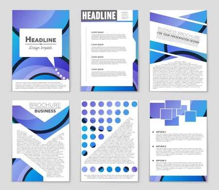 Abstract vector layout background set. Template design, list, front page, mockup brochure theme style, banner, idea, cover, booklet, print, flyer, book, blank, card, ad, sign, sheet,, a4.