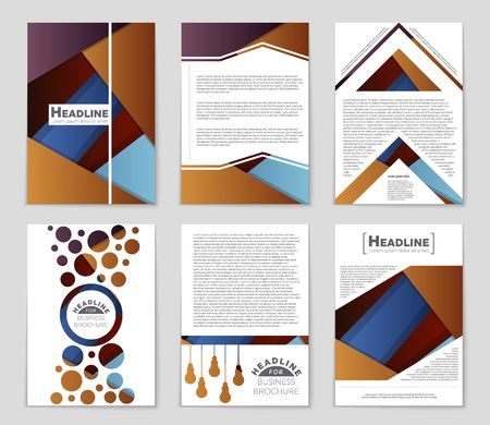bauhaus: Abstract vector layout background set. Template design, list, front page, mockup brochure theme style, banner, idea, cover, booklet, print, flyer, book, blank, card, ad, sign, sheet,a4. Illustration