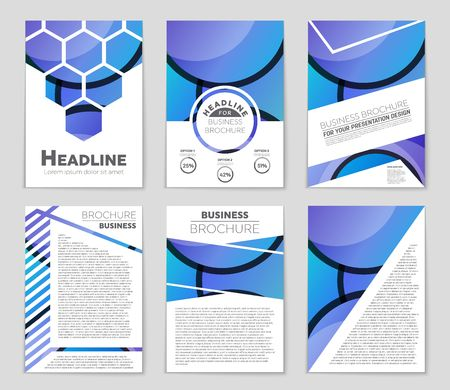 bauhaus: Abstract vector layout background set. For art template design, list, front page, mockup brochure theme style, banner, idea, cover, booklet, print, flyer, book, blank, card, ad, sign, sheet, a4.