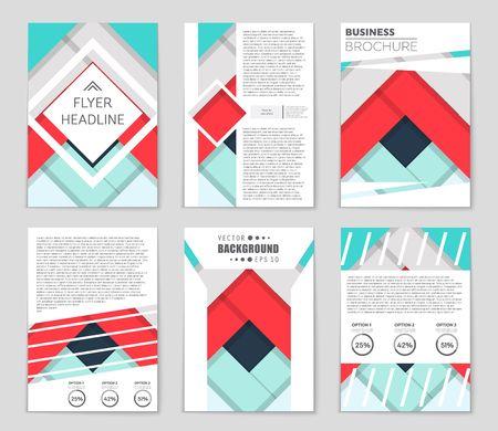 抽象的なベクトル レイアウト背景セット。アート デザイン テンプレート、リスト、フロント ページ、モックアップ パンフレット テーマ スタイル  イラスト・ベクター素材