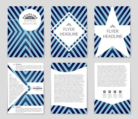 notebook: Abstract vector layout background set. For art template design, list, front page, mockup brochure theme style, banner, idea, cover, booklet, print, flyer, book, blank, card, ad, sign, sheet,, a4 Illustration
