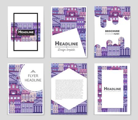 modern house: Abstract vector layout background set. For art template design, list, front page, mockup brochure theme style, banner, idea, cover, booklet, print, flyer, book, blank, card, ad, sign, sheet,, a4 Illustration