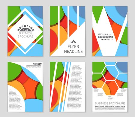 Abstract vector layout pattern set. For art template design, list, front page, mockup brochure theme style, banner, idea, cover, booklet, print, flyer, book, blank, card, ad, sign, sheet,, a4