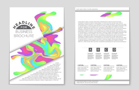 publisher: Abstract brochure colored design business flyer in A4 size