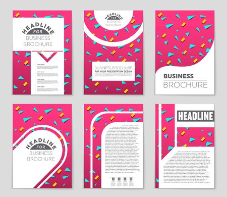 notebook: Abstract vector layout background set. For art template design, list, front page, mockup brochure theme style, banner, idea, cover, booklet, print, flyer, book, blank, card, ad, sign, sheet,, a4. Illustration