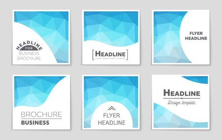 diamond shape: Abstract vector layout background set. For art template design, list, page, mockup brochure theme style, banner, idea, cover, booklet, print, flyer, book, blank, card, ad, sign, sheet,, a4.