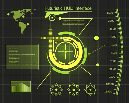 controlling: Abstract future, concept vector futuristic blue virtual graphic touch user interface HUD. For web, site, mobile applications isolated on background, techno, online design, business, gui, ui, kit, hud.