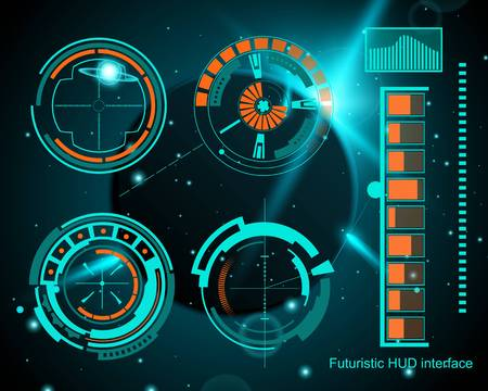 Abstract future, concept vector futuristic blue virtual graphic touch user interface HUD. For web, site, mobile applications isolated on background, techno, online design, business, gui, ui, kit, hud