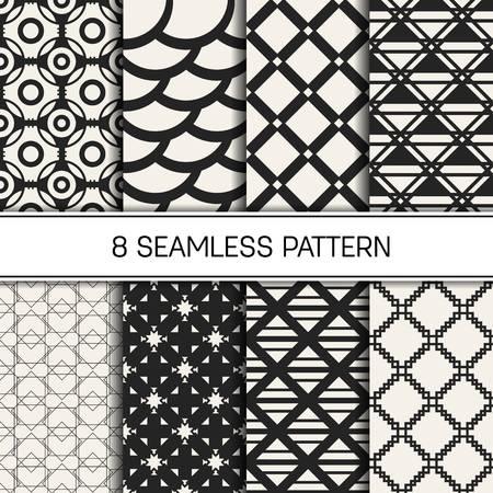 抽象的な概念ベクトルの白黒の幾何学模様。黒と白の最小限の背景。クリエイティブ イラスト テンプレートです。シームレスなスタイリッシュなテクスチャです。壁紙、表面、ウェブ デザイン、テキスタイル、装飾用 写真素材 - 81873907