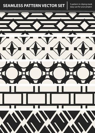 Modello geometrico monocromatico di vettore astratto di concetto. Sfondo minimale bianco e nero. Modello di illustrazione creativa. Trama elegante senza soluzione di continuità. Per carta da parati, superficie, web design, tessile, arredamento
