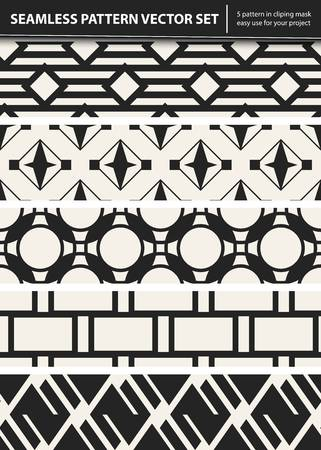 Zusammenfassung Konzept Vektor monochrome geometrischen Muster. Schwarz-Weiß-Minimal-Hintergrund. Kreative Illustration Vorlage. Nahtlose stilvolle Textur. Für Tapeten, Oberfläche, Webdesign, Textil, Dekor