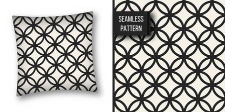 weave: Abstract concept vector monochrome geometric pattern. Black and white minimal background. Creative illustration template. Seamless stylish texture. For wallpaper, surface, web design, textile, decor
