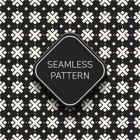Abstract concept vector monochrome geometric pattern. Black and white minimal background. Creative illustration template. Seamless stylish texture. For wallpaper, surface, web design, textile, decor. Stock Photo