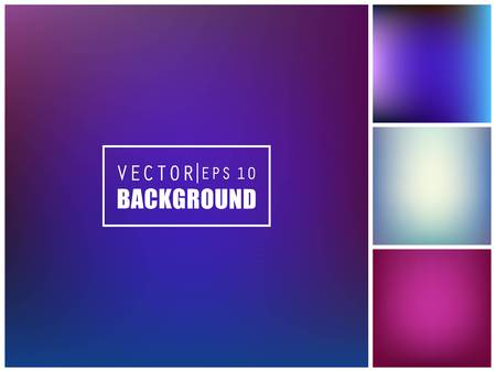 minimalistic: Abstract Creative concept vector multicolored blurred background set. For Web and Mobile Applications, art illustration template design, business infographic and social media, modern decoration.