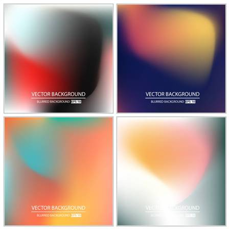 gradient: Abstract Creative concept vector multicolored blurred background set. For Web and Mobile Applications, art illustration template design, business infographic and social media, modern decoration.