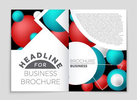 Abstract design brochure set Illustration