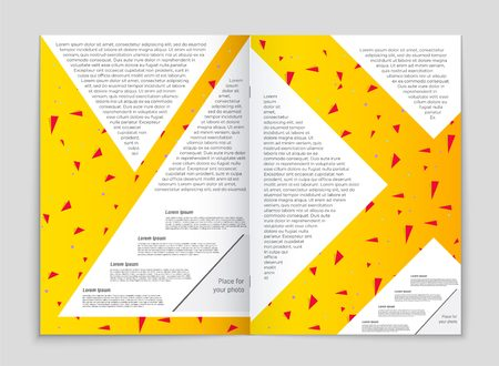 Abstract vector layout background set. For art template design, list, front page, mockup brochure theme style, banner, idea, cover, booklet, print, flyer, book, blank, card, ad, sign, sheet, a4 Illustration