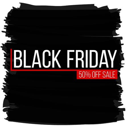Abstract vector black friday sale layout background. Illustration