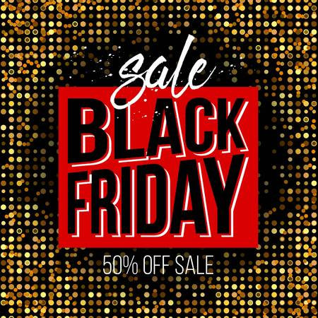 black block: Abstract black friday sale layout for art template design, list, page, mockup brochure style, banner, idea, cover, booklet, print, book, blank, card, ad, sign, poster, badge. Vectores