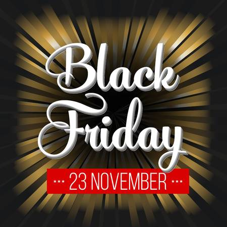 Abstract vector black friday sale layout background for art template design.