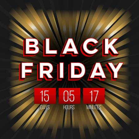 percentage: Abstract vector black friday sale layout background. Illustration