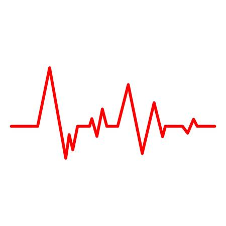 Creative vector illustration of heart line cardiogram isolated on background. Art design health medical heartbeat pulse. Abstract concept graphic element. Ilustração